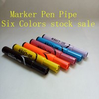 best click - hi liter pipe marker pen stash smoking metal pipe sneak a toke click n vape Pen Pipe mulity color creative style best