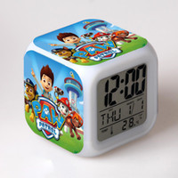 Wholesale Cute Doggy Alarm Clock Glowing LED Alarm Electric Clock Cartoon Character Digital Desk Clocks Boys Girls Hallowmas Christmas Gift