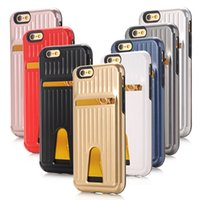 bags plus luggage - Card Holder Neo Hybrid Armor Luggage Plastic PVC Back Cover Cases For iPhone S s Plus SE bag fundas