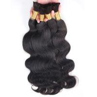 bulk hair - Brazilian malaysian peruvian vrigin human hair bulk Body Wave inch natural black no weft human hair bulk for Body Wavy