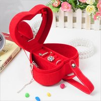 adorable earrings - Heart Shape Adorable Jewelry Boxes Ring Boxes Bracelet Boxes Elegant Jewelry Packaging Boxes Suede Fabric Jewelry Storage Cases Dustproof