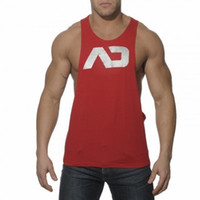 Wholesale 2016 Addicted Men s Sport Singlets Gym Tank Top Muscle Vest Loose Sleeveless Shirt Bodybuilding Stringer Fitness Tops M XXL