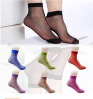 Wholesale Superhot PAIRS Crystal Silk Ultra thin Transparent Women Short Socks