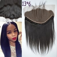 Wholesale 13 Indian Human Hair Straight Lace Frontals With Baby Hair Ear To Ear Full Frontal Lace Closure