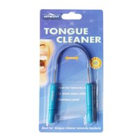 Wholesale Tongue Cleaner GENKENT Stainless Steel Silica Handle Tongue Scraper Oral Hygiene Dental Tongue Cleaning Brush Oral Care