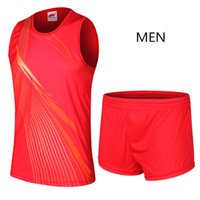 Wholesale Outdoor Sports Clothes Running Set for Men Women Polyester Sports Competition Training Suit Breathable Running Tracksuit