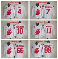 Wholesale Mens Bobby Orr Ray Bourque Dale Hawerchuk MARK MESSIER Mario Mlemieux Wayne Gretzky Throwback Stitched Jerseys
