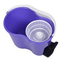 Wholesale Microfiber Spinning Mop Easy Floor Mop Bucket Heads Rotating Head Purple