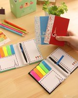 ballpoint pen suppliers - 2015 post it sticky notes stickers paper notes notepad with Ballpoint pen stationery for children students office supplier Scrapbook BL