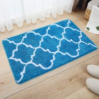 Wholesale Wholesales Full Flocked mat bedroom livingroom bathroom Water absorption Non slip mat Summer New style