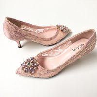 Cheap blush pink wedding shoes lace bridal shoes pump bridesmaid shoes popular prom shoes evening party dinner shoes