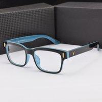 al por mayor gafas graduadas para las mujeres-2016 marcos en forma de V de vidrios del ojo del logotipo para los marcos coreanos de los vidrios de las mujeres Gafas de la marca de fábrica del marco óptico del espectáculo de los hombres eyewear