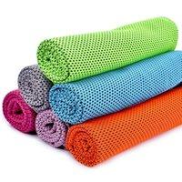 2016 Toalla fría Las toallas de enfriamiento de verano se divierten al aire libre hielo frío scaft bufandas Pad almohadilla seca rápida necesidad de Fitness Yoga