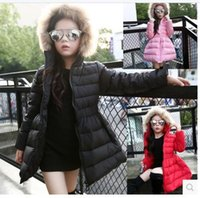 Wholesale 2016 winter new children girls down jacket and long sections fur collar big virgin child tutu hooded down jacket