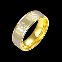 bible wedding - High quality large size mm Titanium Steel K silver gold plated jesus cross Letter bible wedding band ring Simple Personality Ring