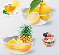 Wholesale Golive New Arrived Large Salad Bowls Transparent Color Frosted cm or cm PC Material High Quality