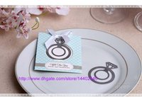 Wholesale 200pcs Silver Color With This Ring Metal Engagement Ring Bookmark Bridal Shower Bomboniere Wedding Favors Gift