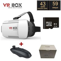 Wholesale Google cardboard VR BOX Version VR Virtual Reality Glasses oculus Rift Bluetooth Wireless Gamepad GB D Game with package