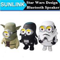 Cheap Star Wars Yoda Darth Vader Storm Troops Shape Bluetooth Mini Speaker Cute Cartoon Loudspeakers support TF Card FM USB Handsfree MIC
