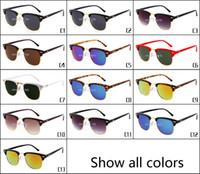 ben fashion - Ray Brand Designer Ba Vintage Sunglasses Top Quality Men Women Fashion Round Rey Sun Glass UV400 Ben Protect Half Frame Sunglasses