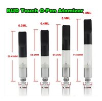 Wholesale Wax Atomizer Kits CE3 Bud Touch O Pen Vape Pen Cartridge Atomizer Disposable Clearomizer CBD Co2 Cartridge Wax Oil Vaporizer Ecig Tank