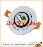Wholesale YON W W W W COB Led Downlight Recessed Ceiling Spot Light AC85 V Cold White Warm White White Led Downlight