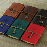 agenda notebook - Hot Selling inch Vintage Pirate Notebook With Many Colors Spiral Diary Book Leather Agenda Stationery Office School Supplies TPN004