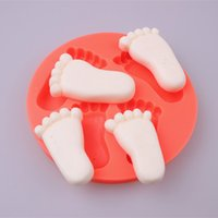 baby foot mold - 100PCS Beautiful Baby foot shape Silicone D Mold Cake Decorating fondant soap mold silicone baking forms kitchen accessories
