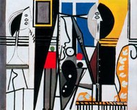 abstract landscape painters - art Oil paintings Painter and his model Pablo Picasso reproduction Handmade High quality