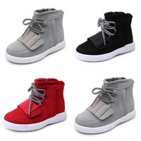 Wholesale kanye baby boot Boots kids shoes Kids boys sneakers girls toddler baby sport shoes winter fashion kids shoes