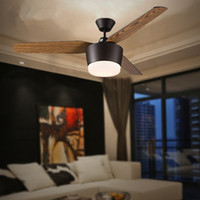Wholesale Modern American Dining Room Ceiling Fan Lamp American restaurant personality Creative ceiling fan with lights Home Lighting