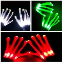 Wholesale LED Gloves Flashing Cosplay Novelty Gloves Led Light Toy Flash Gloves for Sign Language Halloween Christmas Party Decoration Light