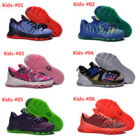 kids kevin durant shoes - Cheap Kids Kd ASG V8 Basketball Shoes New KD8 VIII Aunt Pearl Hunt s Hill Sunrise Kds Kevin Durant Sneakers For Sale
