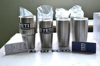 Wholesale YETI oz oz oz Cup Cooler YETI Rambler Tumbler For Travel Vehicle Beer YETI Mug Tumblerful Bilayer Vacuum Insulated Stainless Steel