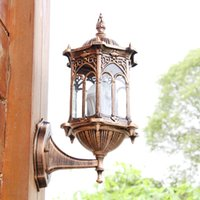 antique outdoor light - Antique brass IP65 luxary American European outdoor sconce vintage classical waterproof wall light outdoor wall lamp