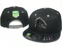 baseball hats australia - NRL Australia Rugby Football Fans Melbourne Brisbane team adjustable baseball sport Snapback caps hats For Adult Men Women