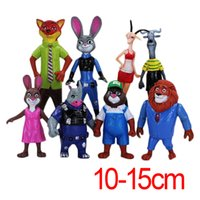Wholesale Prettybaby Zootopia set action figure PVC toys Nick Judy model cm plastic doll toy kids gift utopia