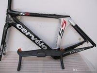 cervelo - Newest Cervelo s5 road bike frame frameset glossy full carbon fiber road bicycle frame with Cervelo s5 handlebar A02