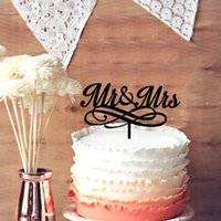 Wedding Cake Supplies Table Centerpieces Cake Toppers Chic Cake Topper for Wedding Gift, Personalized Unique Script Mr &Mrs Wedding Anniversary Party Cake Topper