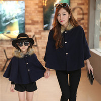 Wholesale V TREE NEW fashion mother amp kids family matching outfits cloak coat thicken velvet mother daughter outfits girls winter coat