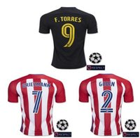 adult soccer leagues - 2016 Atletico Madrid Champions League Men Short Sleeve Adults Jersey Camisa Shirt Kit Camiseta Maillot Soccer football shirt