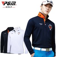 Wholesale PGM Brand Mens Outdoor Fit Polomens Golf Polo Shirts Quick Dry Long Sleeve Golf T shirts Clothing Table Tennis Shirt