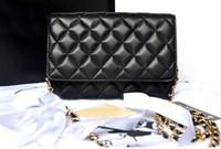 Wholesale Luxury Brand Classical Woc Bag Wallet On Chain Women Genuine Leather Lambskin Mini Flap Messenger Bags Designer Handbags