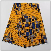 african batik fabrics - hot selling combed cotton Nigerian brocade African super wax fabric hollandais dashiki batik material for sewing clothing dress