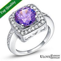 australian wedding rings - Fashion Silver Jewelry Simulated Diamond Engagement Wedding Ring For Women Zirconia Crystal Australian Acessorios Atacado J411