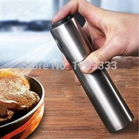 Wholesale Fashion Hot Kitchen Stainless Steel Olive Mist Spray Pump Bottle Oil Sprayer Pot Cook Tool