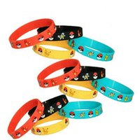 african turtles - Poke pokémon go Silicone Bracelets toys color Children Poke Ball Sylveon Pikachu Charmander Bulbasaur Jeni turtle Bracelets