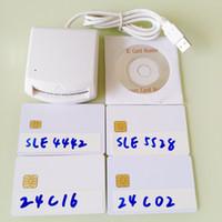 Wholesale USB EMV Smart IC chip card writer reader Support I2C memory SLE5528 SLE4442 SLE4428 SLE6636 AT88SC1608 AT45DB041 smartcard