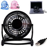Wholesale Mini Portable Super Mute Laptop Computer PC Metal USB Cooler Cooling Desktop Fan