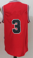 Wholesale New Jersey Basketball Jerseys Jersey New Red White Color Size S XXL Stitched Hot Jerseys High Quality